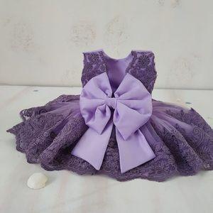 Baby girl tutu purple dress